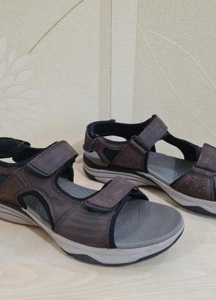 Мужские кожаные сандалии clarks размер 44,5