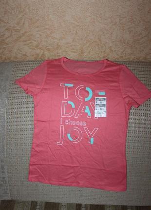 Новая футболка хлопок девочке 8-9 лет от decathlon