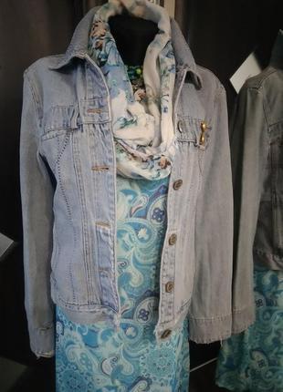 Куртка джинсовая деним тертый с карманами