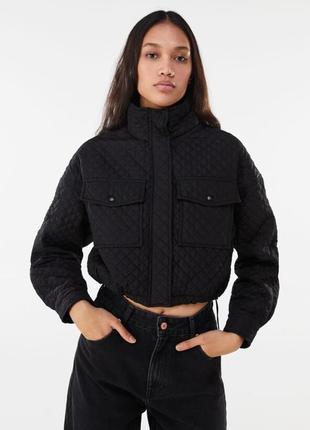 Кутрка стеганая, куртка на кулиске, стеганная,ветровка, куртка укороченная легкая