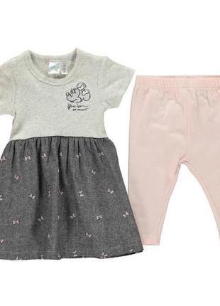 Детский набор комплект новый костюм платье лосины дисней disney оригинал
