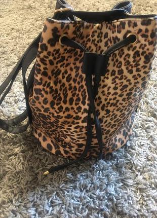 Сумка леопардовая