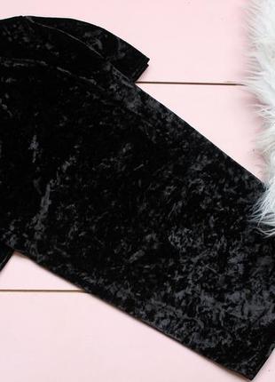 Бархатное черное платьице missguided