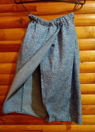 Дизайнерская летняя юбка миди с разрезом от anna yakovenko