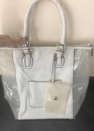 Итальянская новая сумка силикон кожа pu с монетницей