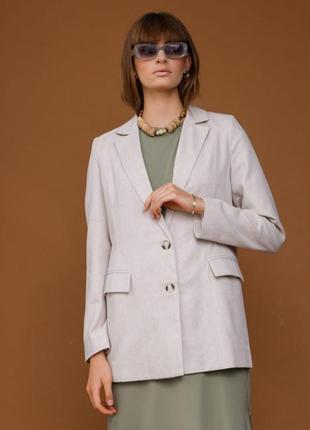 Женский льняной жакет, пиджак