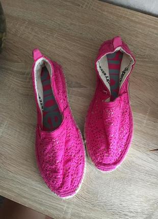 Розовые эспадрильи распродажа б/у обувь по 100грн