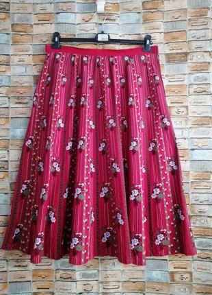 Винтажная хлопковая юбка