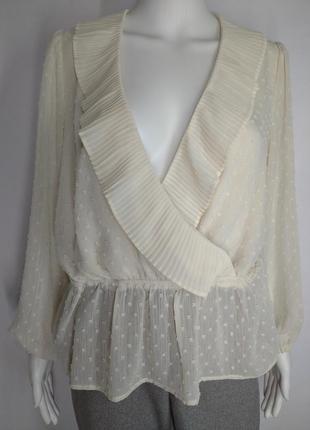 Легкая романтичная блуза цвет крем беж от new look size uk 14