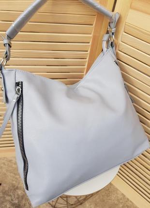 Скидка! красивая вместительная сумка мешок нежно голубого цвета