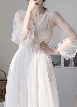 Новое винтажное кружевное платье для фотосессии