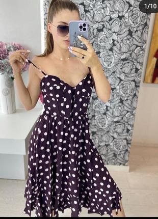 Платье сарафан легкий красивый плаття комбінезон літо лето