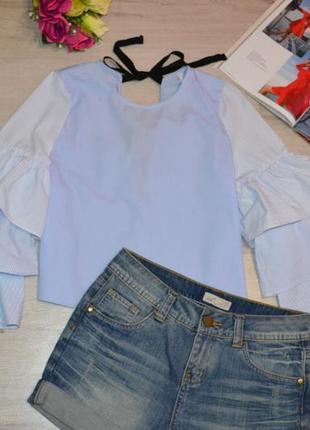 Блуза с интересной спинкой zara котон