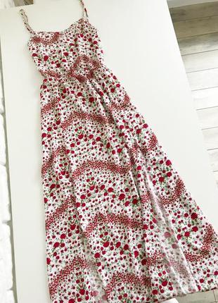 Дуже красивий сарафан, сукня міді з актуальними розрізами