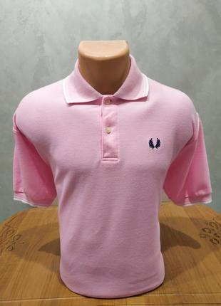 Хлопковое поло в розовом цвете fred perry