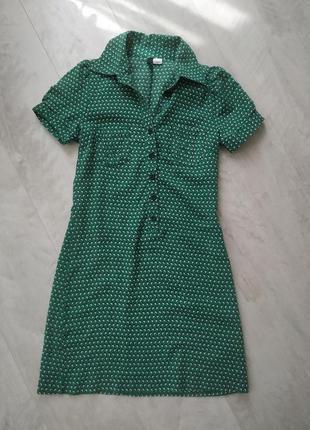 Платье , платье h&m , зеленое платье , платье мини