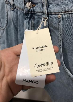 Джинсовые мом шорты mango р. 362 фото