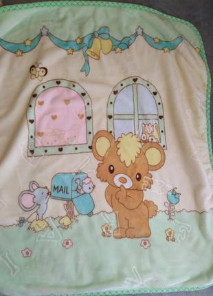 Детское теплое одеяло в коляску