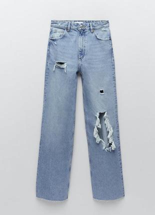 Трендовые джинсы zara р. 36