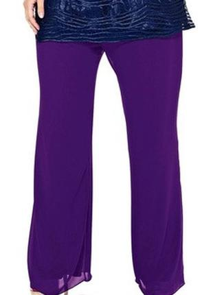 Красивые женские легкие шифоновые брюки, штаны marks & spencer