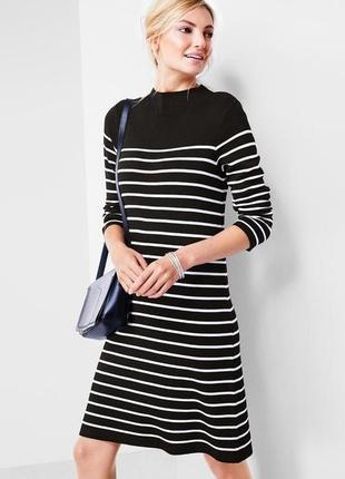 Стильное удобное вязанное платье в полоску от тсм tchibo (чибо), германия, размер s-l