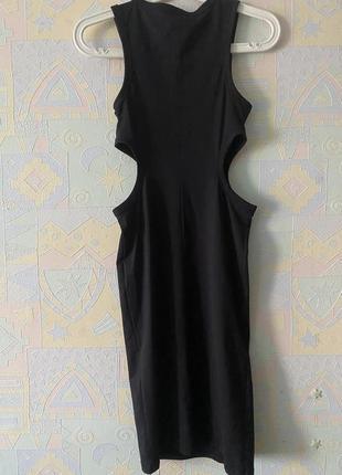 Крутое стрейч платье с вырезами на талии хs