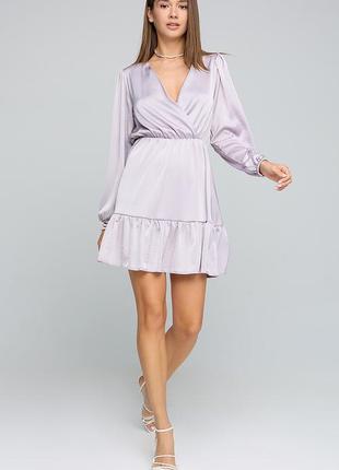Шелковое серое платье