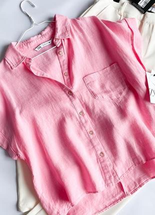 Сорочка zara xl розмір льон