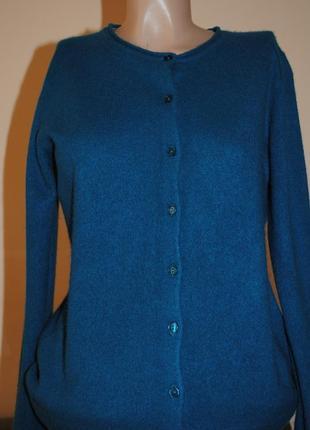 Кашемировый пуловер кардиган m- l / brend manor премиум–класса