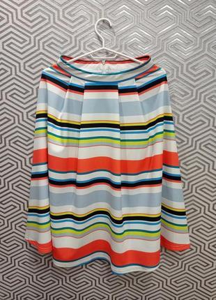 Шикарная объёмная юбка миди new look