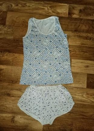 Пижама домашний набор обмен комплект костюм шорты майка футболка