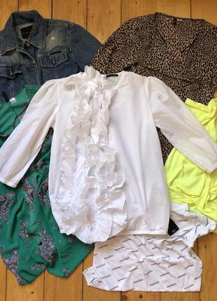 Белая стильная блуза батист