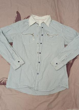 Крутая рубашка в полоску, р. l-xl, replay