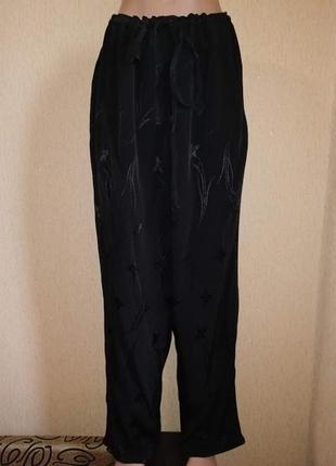 Стильные легкие женские черные брюки, штаны yessica