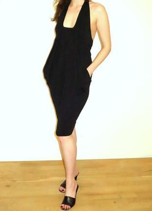 Новое натуральное маленькое черное платье р.44-46 брендовое  stefanel