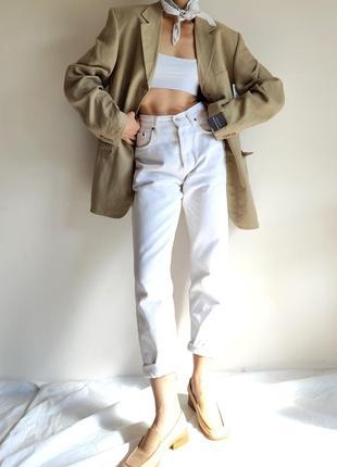 Пиджак жакет лен льон оверсайз полосочка новый