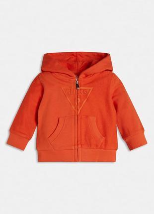 Реглан з капюшоном guess дитячий /реглан оранжевий на хлопчика 100% бавовна