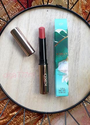 Kiko milano стойкая матовая губная помада, сохраняющаяся на губах до 12 часов unexpected paradise long lasting lip stylo
