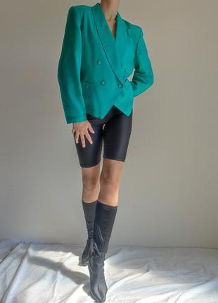 Пиджак жакет двубортный винтаж неон укороченный
