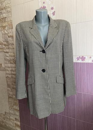 Akris шерстяной клетчатый пиджак блейзер