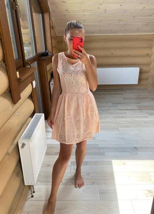 Распродажа легкое летнее воздушное платье из прошвы