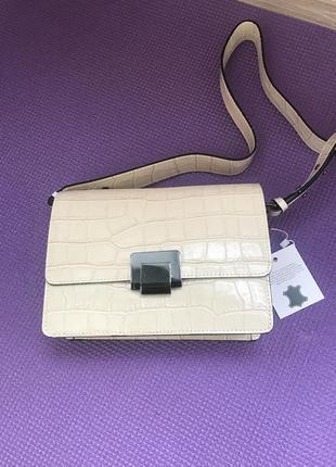 Кроссбоди сумочка шикарная сумка с тиснением
