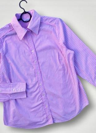 Базовая стильная рубашка в полоску marks & spencer