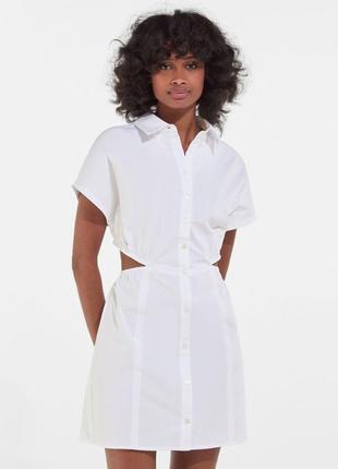 Платье белое мини новое s xs bershka