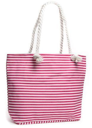 Пляжная сумка на пляж женская текстильная шоппер