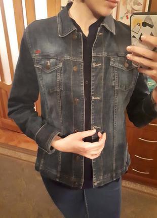 Куртка пиджак джинс джинсовая