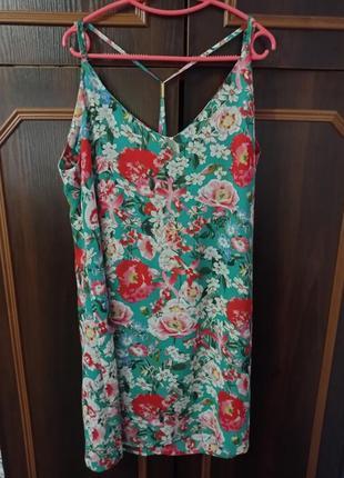 Летнее цветочное платье сарафан