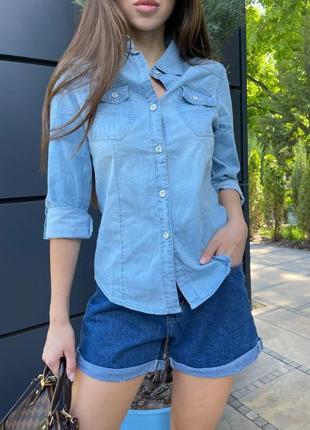 Джинсовая базовая рубашка