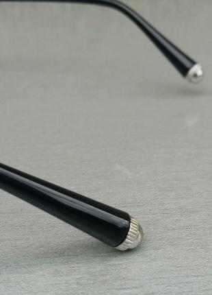 Gucci очки унисекс солнцезащитные модные круглые линзы серый градиент в серебристом металле5 фото