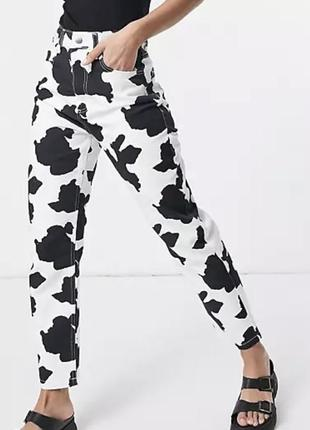 Mom jeans reclaimed vintage cow print